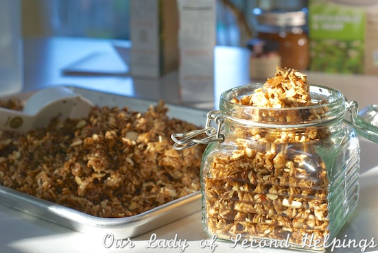 Coconut-Almond Granola - super quick & easy! | Our Lady of Second Helpings