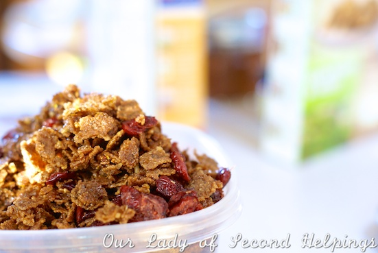 maple-cranberry coated cereal   Our Lady of Second Helpings