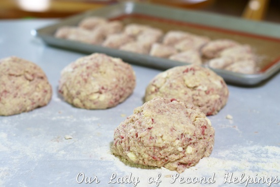 Roasted Strawberry Scones | Our Lady of Second Helpings