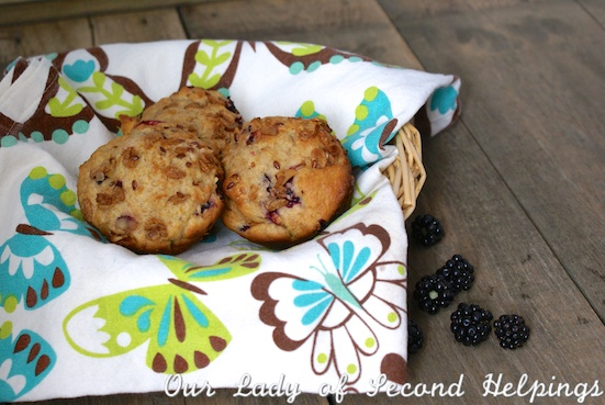 Blackberry Peach Muffins | Our Lady of Second Helpings