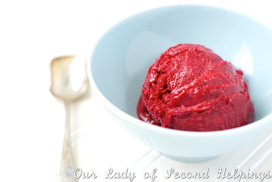 Wild Blackberry Sorbet | Our Lady of Second Helpings