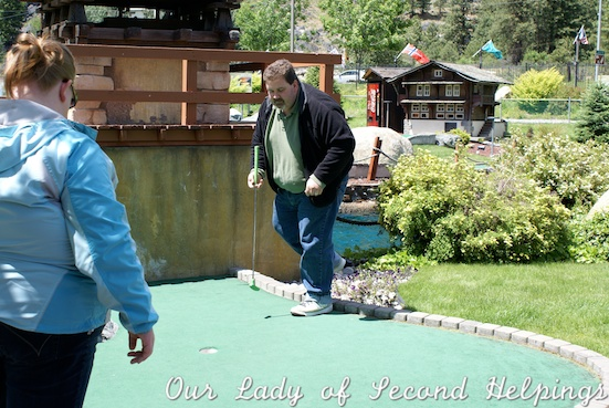 Before weight loss an active day was an hour of slow paced mini golf.