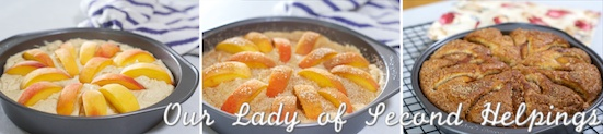 Cardamom Spiced Peach Cake | Our Lady of Second Helpings