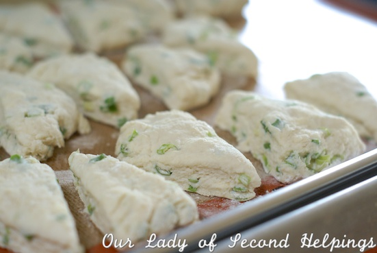 Scallion & Ricotta Scones | Our Lady of Second Helpings