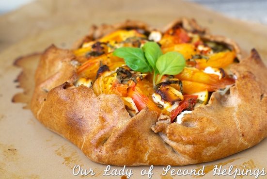 Tomato & Sweet Onion Galette | Our Lady of Second Helpings