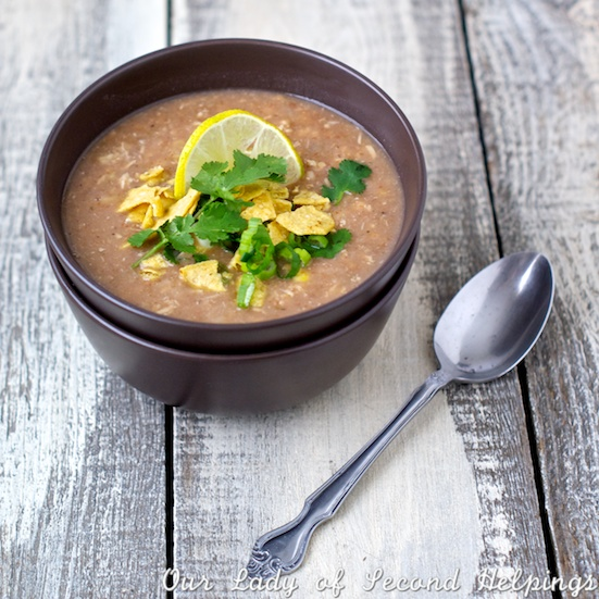 Why not cozy up to a bowl of White Bean Chicken Chili on a Autumn morning?