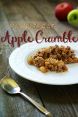 Walnut-Oat Apple Crumble