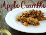 Walnut-Oat Apple Crumble
