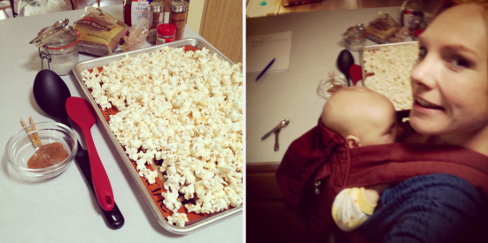 Sugar & Spice Popcorn w/ baby on board