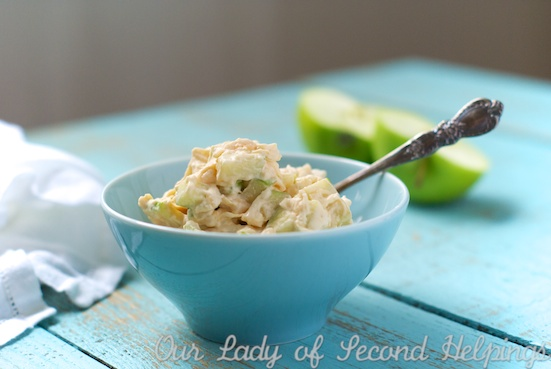 Caramel Apple Salad with Homemade 'Cool Whip' | Our Lady of Second Helpings