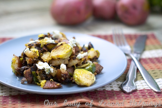 Gorgonzola-Brussels Sprout Hash | Our Lady of Second Helpings